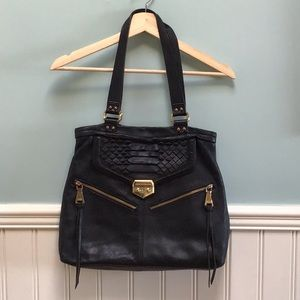 Aimee Kestenberg Black Leather Shoulder Bag